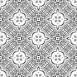 VECTOR GEOMETRICAL BLACK AND WHITE PATTERN DESIGN. REPEATABLE ABSTRACT Stock Photo