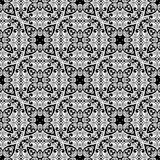 VECTOR GEOMETRICAL BLACK AND WHITE PATTERN DESIGN. REPEATABLE ABSTRACT Stock Image