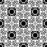 VECTOR GEOMETRICAL BLACK WHITE PATTERN DESIGN Royalty Free Stock Photos