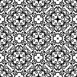 VECTOR GEOMETRICAL BLACK AND WHITE PATTERN DESIGN Royalty Free Stock Photo