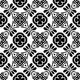 VECTOR GEOMETRICAL BLACK AND WHITE PATTERN DESIGN Royalty Free Stock Images