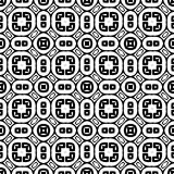 VECTOR GEOMETRICAL BLACK AND WHITE PATTERN DESIGN Stock Photos