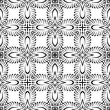 VECTOR GEOMETRICAL BLACK AND WHITE PATTERN DESIGN Royalty Free Stock Image