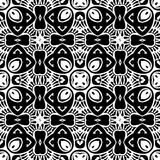 VECTOR GEOMETRICAL BLACK AND WHITE PATTERN DESIGN. REPEATABLE ABSTRACT Stock Photos