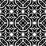 VECTOR GEOMETRICAL BLACK AND WHITE PATTERN DESIGN. REPEATABLE ABSTRACT Royalty Free Stock Photo