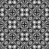 VECTOR GEOMETRICAL BLACK WHITE PATTERN DESIGN royalty free stock images