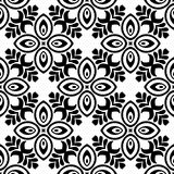 VECTOR GEOMETRICAL BLACK AND WHITE PATTERN DESIGN. REPEATABLE ABSTRACT Royalty Free Stock Photos