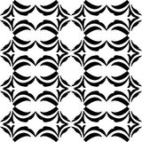 VECTOR GEOMETRICAL BLACK AND WHITE PATTERN DESIGN royalty free stock photos