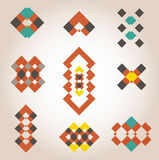 Geometrical designs logo samples. Vector  geometrical designs logo samples Stock Images