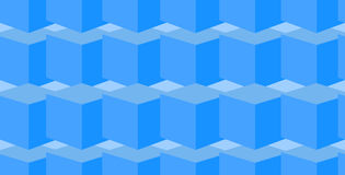 Vector geometrical endless seamless pattern with blue cubes. Vector geometrical seamless pattern with blue cubes Stock Photography