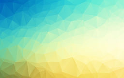 Vector Geometrical polygon abstract background blue to sand color. Vector Geometrical polygon abstract background sky blue to sand yellow color. Vector stock illustration