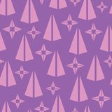 Simple triangle shape vector seamless pattern background. In purple color. Perfect use for wallpaper, fabric, gift wrap, scrap booking and many more surfaces in royalty free illustration
