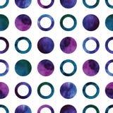 Vector geometrisch abstract waterverfpatroon met Stock Foto