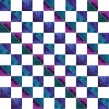 Vector geometrisch abstract waterverfpatroon met Stock Foto's