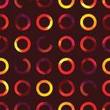 Vector geometrisch abstract waterverfpatroon met gradiëntcirkels Royalty-vrije Stock Fotografie