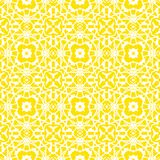 Vector geometrisch art decopatroon in heldere geel Stock Afbeeldingen