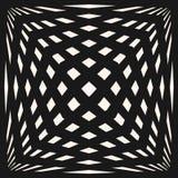 Vector geometrisch geruit patroon Naadloze textuur met uitgerekte kubieke vormen Royalty-vrije Stock Afbeeldingen
