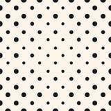 Vector geometrisch halftone naadloos patroon met cirkels, punten Stock Afbeeldingen