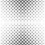 Vector geometrisch halftone naadloos patroon met cirkels, punten Illustratie van geperforeerde oppervlakte met het effect van de  Stock Afbeeldingen