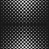 Vector geometrisch halftone naadloos patroon met cirkels, punten Ontwerp voor tileable druk Stock Afbeelding