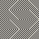 Vector geometrisch lijnenpatroon, strepen, zigzagvormen Abstract gestreept ornament Visgraatpatroon Royalty-vrije Stock Afbeeldingen