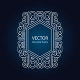 Vector geometrisch lineair stijlkader Royalty-vrije Stock Afbeelding