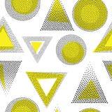 Vector geometrisch naadloos patroon Stock Afbeelding