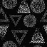 Vector geometrisch naadloos patroon Stock Foto