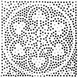 Vector geometrisch naadloos patroon Het herhalen van abstracte punten Stock Afbeeldingen