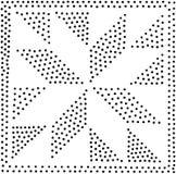 Vector geometrisch naadloos patroon Het herhalen van abstracte punten Stock Fotografie