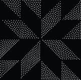 Vector geometrisch naadloos patroon Het herhalen van abstracte punten Royalty-vrije Stock Afbeeldingen