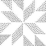 Vector geometrisch naadloos patroon Het herhalen van abstracte punten Stock Afbeelding