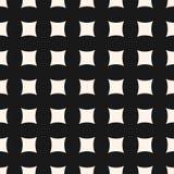 Vector geometrisch naadloos patroon met gebogen vierkante vormen, netwerk Stock Afbeeldingen