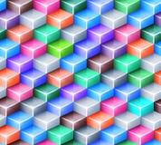 Vector geometrisch naadloos patroon met helder Stock Fotografie