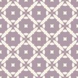 Vector geometrisch naadloos patroon met mozaïektegels Bleek purper en beige bloemen retro ornament Royalty-vrije Stock Foto's