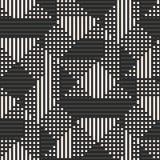 Vector geometrisch naadloos patroon met strepen, vierkanten, lijnen, Sportenpatroon vector illustratie
