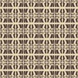 Vector geometrisch naadloos patroon, stammenachtergrond, etnisch, de stijl van Navajo op witte achtergrond Stock Foto's