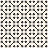 Vector geometrisch naadloos patroon, zwart-wit textuur met kruis Royalty-vrije Stock Afbeelding