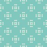 Vector Geometrisch Ornament Naadloos patroon met bloemenvormen Royalty-vrije Stock Fotografie