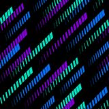 Vector geometrisch patroon met diagonale langzaam verdwijnende lijnen, sporen, halftone strepen Malplaatje voor de vervaardiging  vector illustratie