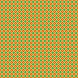 Vector geometrisch patroon met sterren op een groene achtergrond Stock Foto