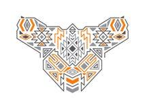 Vector Geometrisch Stammen Etnisch Patroon stock illustratie