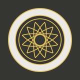 Vector geometrisch symbool Royalty-vrije Stock Afbeeldingen