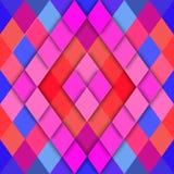Vector geometrische abstracte achtergrond van ruitvormen Stock Afbeelding