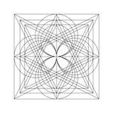 Vector geometrische achtergrond Royalty-vrije Stock Foto's