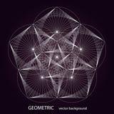 Vector geometrische achtergrond Royalty-vrije Stock Afbeelding
