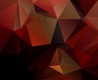 Rode Zwarte Geometrische achtergrond eps 10 Stock Foto