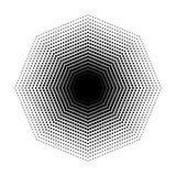 Vector geometrische Halbtonformen des Achtecks, Punktdesignzusammenfassungs-Hintergrund Kunst Lizenzfreie Stockbilder