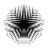 Vector geometrische Halbtonformen Nonagon, Punktdesignzusammenfassungs-Hintergrund Kunst Stockfotografie