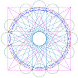 Vector geometrische samenvatting vector illustratie